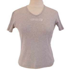 *3 For $25* Esprit Jeans Gray Logo Cotton Tee- Med